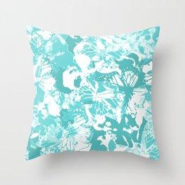 My Aqua butterflies Throw Pillow