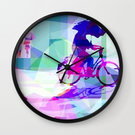 Puple rain Wall Clock