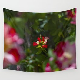 Red Tea Rose Wall Tapestry