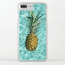 Pineapple Swimming Clear iPhone Case