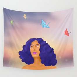Paper Cranes Wall Tapestry
