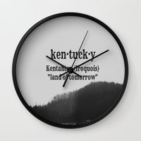 kentucky Wall Clocks featuring Kentucky by KimberosePhotography