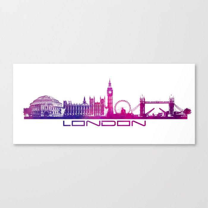 London skyline city pink Canvas Print
