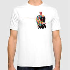 Arlecco Mens Fitted Tee SMALL White