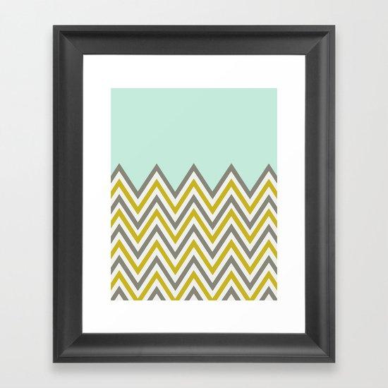 CLASSY CHEVRON Framed Art Print