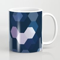 honeycomb Mugs featuring HONEYCOMB by ED design for fun