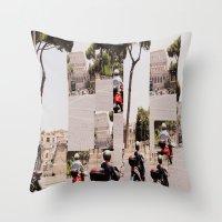 roman Throw Pillows featuring Roman Traffic by Eva Lesko