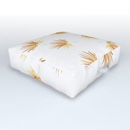 Golden Palm Leaf Outdoor Floor Cushion