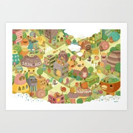 Slowtown Art Print