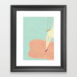 Itsuka, Sakura no Ame Ni Framed Art Print
