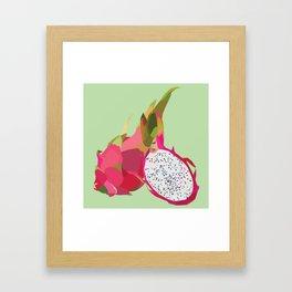 Geo Dragon Fruit Framed Art Print