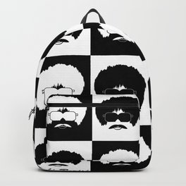 pop art black Backpack