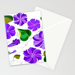 Morning  Glories in Purples and Lavender Stationery Cards