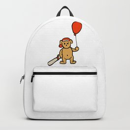 Baseball Teddy Holding Balloon Backpack