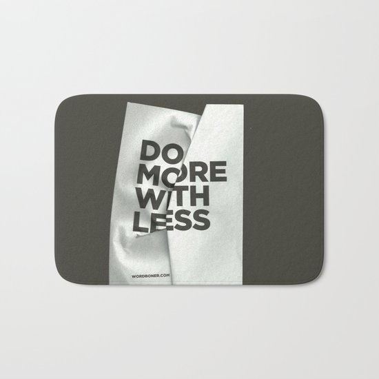 Do More With Less Bath Mat