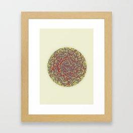Spherical Displacement Framed Art Print