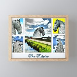The Kelpies At The Millenium Link Framed Mini Art Print