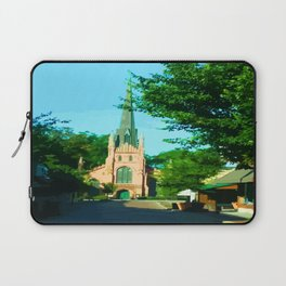 Digital Painting of the Trinity Eposcipal Church in Abbeville Laptop Sleeve