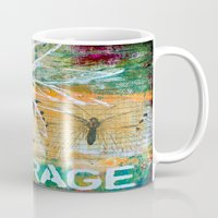 courage Mugs featuring Courage by kathleentennant