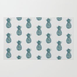 Pineapple Teal Rug