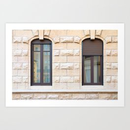 Two thin classic windows in France Art Print