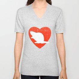 Heart For Beavers Unisex V-Neck