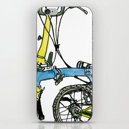 My brompton standing up iPhone Skin