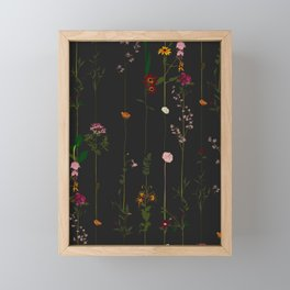 Floral Wallroll - Dark Framed Mini Art Print