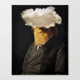 The inability of men with golden faces to be photographed without cloud. Canvas Print