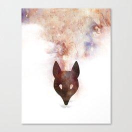 Abstract Colourful Fox Print Canvas Print