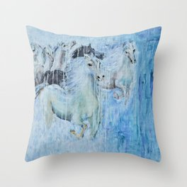 Spirit Horses Throw Pillow