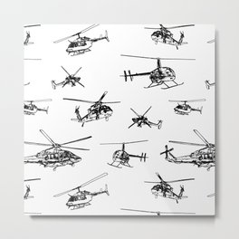 Helicopters Metal Print