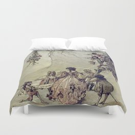 """""""The Fairies Ascent"""" by A. Duncan Carse Duvet Cover"""
