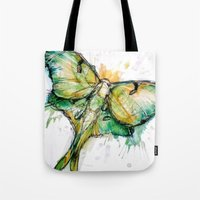 luna Tote Bags featuring Luna by Abby Diamond