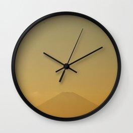 Mt Fuji Sunset Wall Clock