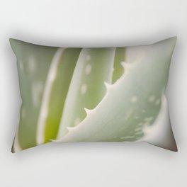 Green Blades Rectangular Pillow