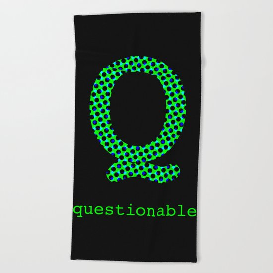 #Q [questionable] Beach Towel