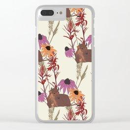 American Prairie Pattern Clear iPhone Case