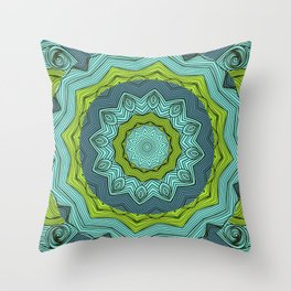 Ocean Mandala Throw Pillow
