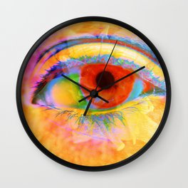 Eye In Bloom Wall Clock