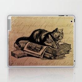 Vintage Cat Collage-Grunge Background Laptop & iPad Skin