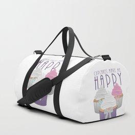 Cupcakes Make Me Happy Duffle Bag