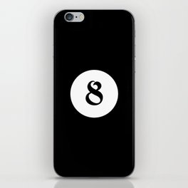 Eight ball pattern iPhone Skin