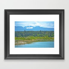 bc mountains Framed Art Print