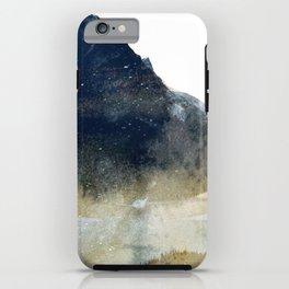 watercolor / blue iPhone Case