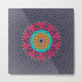 Bohemian Tangle Mandala   Zendala Metal Print