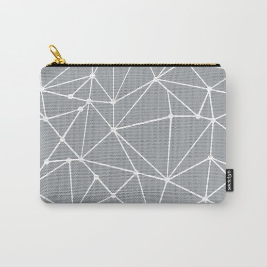 Ab Out Spots Grey Carry-All Pouch