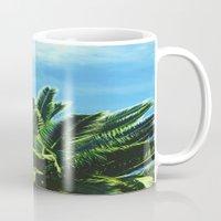 palm tree Mugs featuring Palm TreE  by ''CVogiatzi.