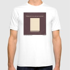 No247 My AMERICAN HISTORY X minimal movie poster White MEDIUM Mens Fitted Tee