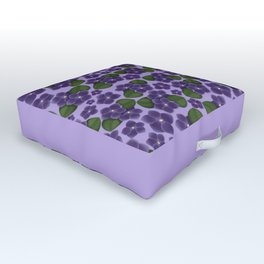 Violets are purple Floral Pattern Blossoms Outdoor Floor Cushion